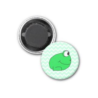 Frog. 3 Cm Round Magnet