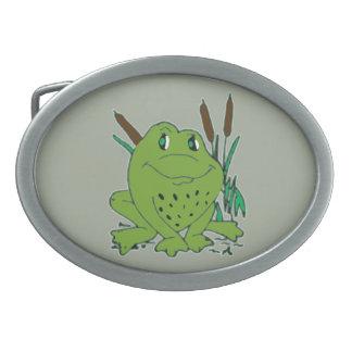 Frog 3 oval belt buckles