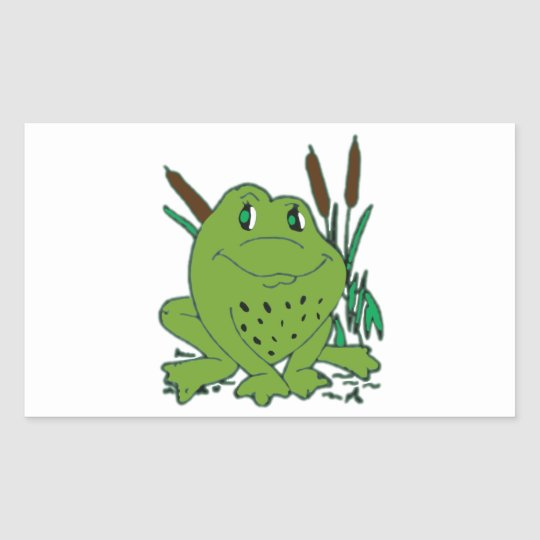 Frog 3 rectangular sticker