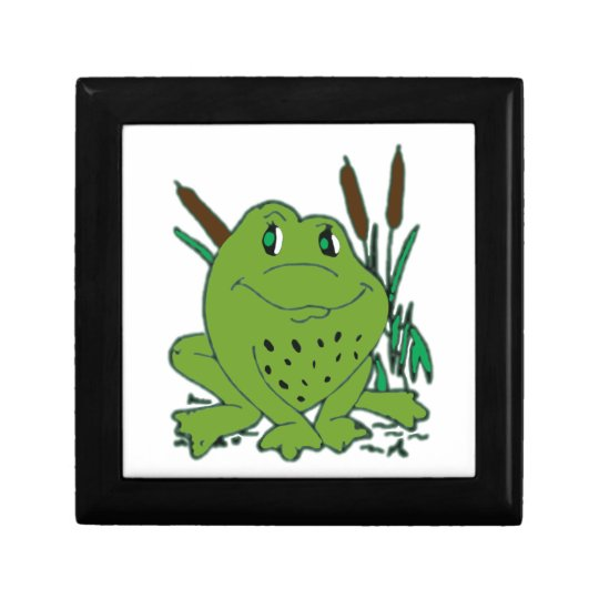 Frog 3 small square gift box