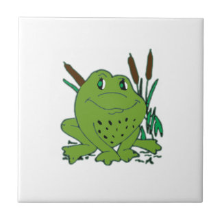 Frog 3 small square tile