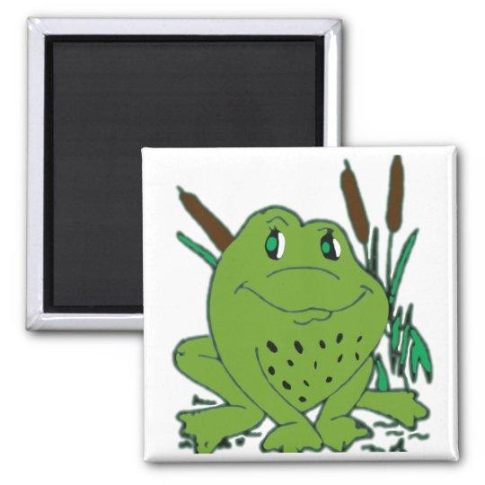 Frog 3 square magnet