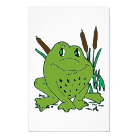 Frog 3 stationery design