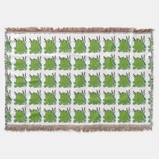 Frog 3 throw blanket