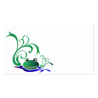 frog-471669 CARTOON CUTE FROG frog water green pon Business Card Templates