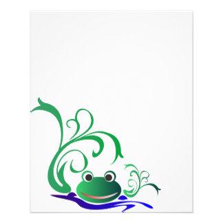 frog-471669 CARTOON CUTE FROG frog water green pon Flyers