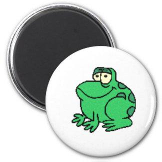 Frog 6 Cm Round Magnet