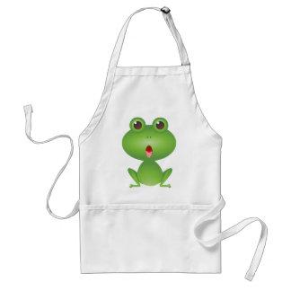 Frog Amphibian Green Frogs Cute Cartoon Animal Adult Apron