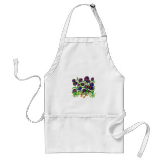 Frog and Aster Flowers on Apron