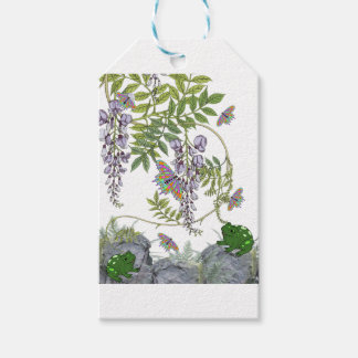 FROG AND BUTTERFLIES GIFT TAGS
