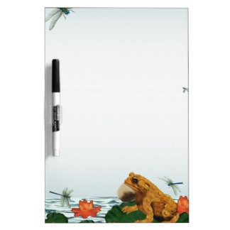 Frog and Dragonfly Dry Erase Board