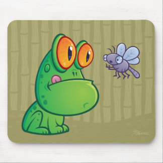 Frog and Dragonfly Mouse Pad