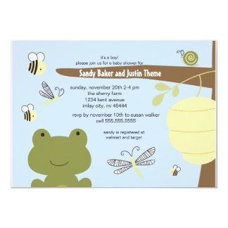 Frog and Friends Invitation