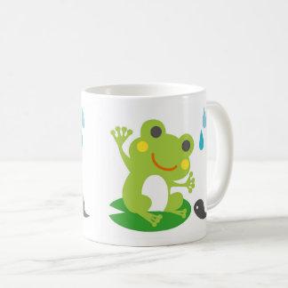 Frog and tadpoles coffee mug