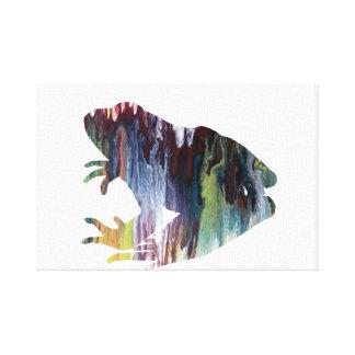 Frog art canvas print