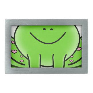 frog art inspiration green design belt buckles