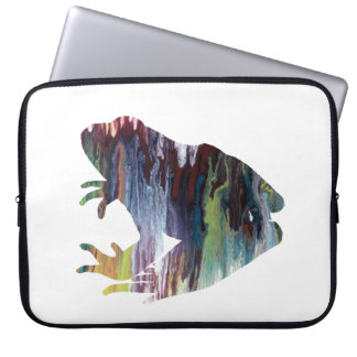 Frog art laptop sleeve