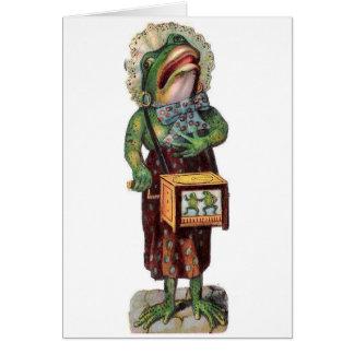 Frog as an Organ Grinder, Card
