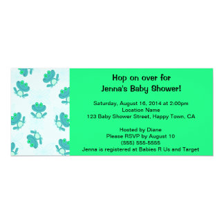 Frog Baby Shower Invitation, Personalize It! Card