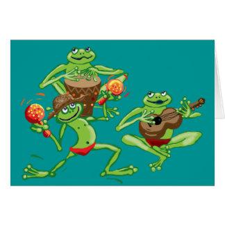 Frog band birthday card or invitation