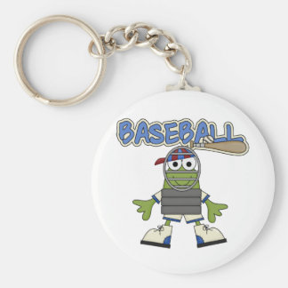 Frog Baseball - Catcher Tshirts and  Gifts Basic Round Button Key Ring