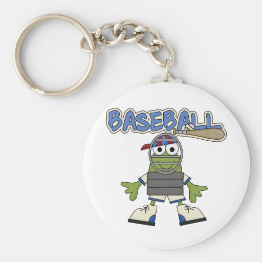 Frog Baseball - Catcher Tshirts and  Gifts Key Chain