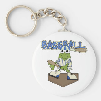 Frog Baseball Home Plate Tshirts and Gifts Basic Round Button Key Ring