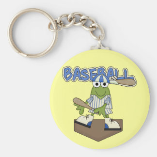 Frog Baseball Home Plate Tshirts and Gifts Keychain