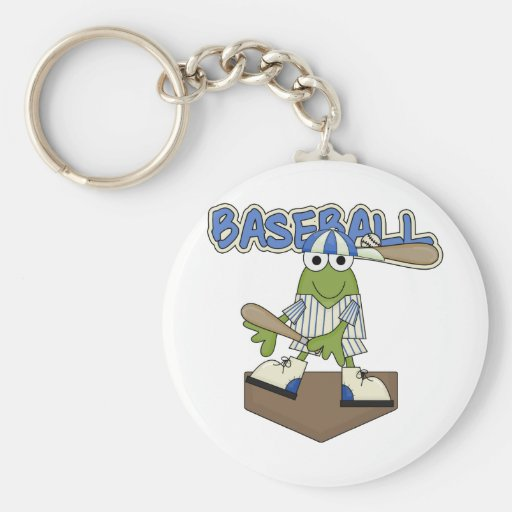 Frog Baseball Home Plate Tshirts and Gifts Keychain