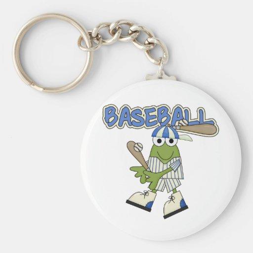 Frog Baseball Up at Bat Tshirts and Gifts Key Chains