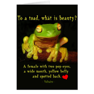 Frog Beauty Card