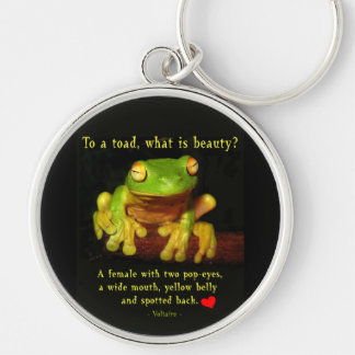 Frog Beauty Silver-Colored Round Key Ring