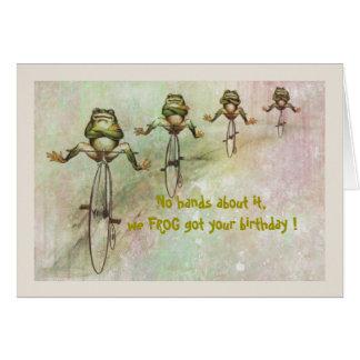Frog Belated Birthday Card