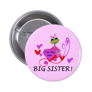 Frog Big Sister Tshirts and Gifts Pinback Buttons
