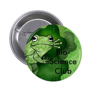 frog, Bio-Science Club 6 Cm Round Badge