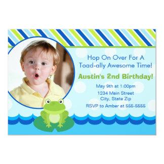 Frog Birthday Invitation Photo Card