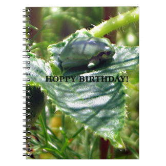 Frog Birthday Spiral Notebooks