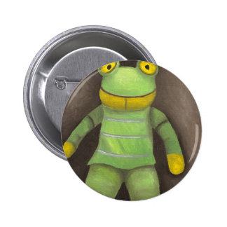 Frog Boy Pinback Button
