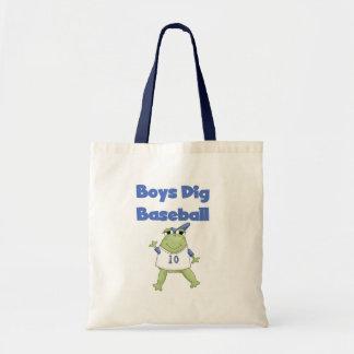 Frog Boys Dig Baseball Canvas Bags