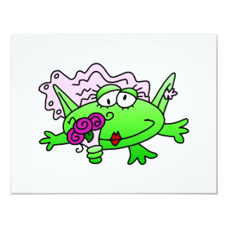 Frog Bride T-shirts and Gifts Personalized Invitations