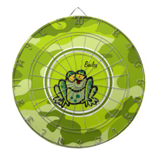 Frog; bright green camo, camouflage dartboard