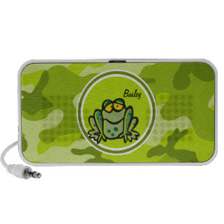 Frog bright green camo camouflage travel speaker