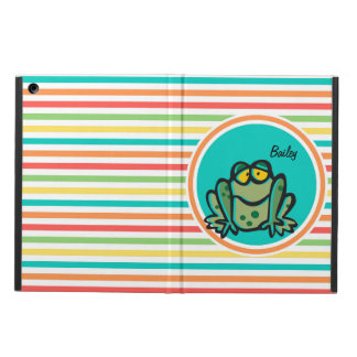 Frog Bright Rainbow Stripes iPad Air Cover