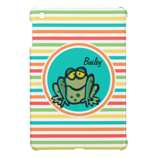 Frog Bright Rainbow Stripes Cover For The iPad Mini