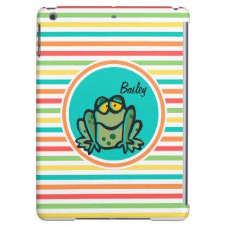 Frog Bright Rainbow Stripes iPad Air Case