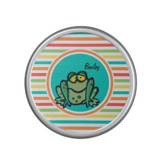 Frog Bright Rainbow Stripes Speaker