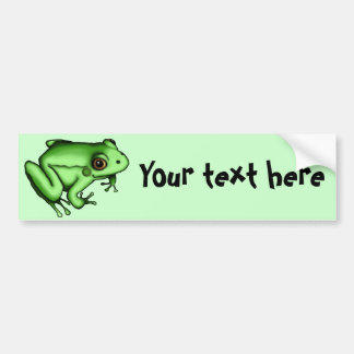 Frog, bumper sticker