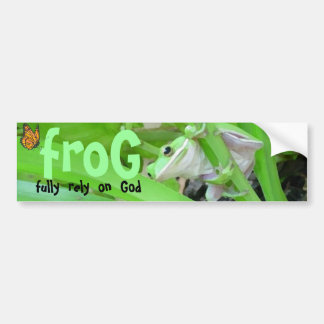 frog bumper sticker
