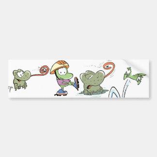 Frog Cartoon Bumper Sticker