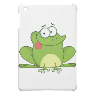 Frog Cartoon Character Hanging Its Tongue Out iPad Mini Cover